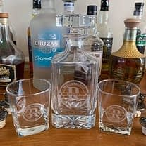 Engraved Decanter for the Brides & Weddings Bar