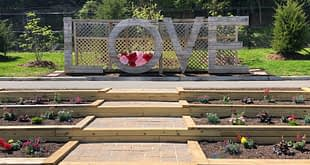 Love sign at Occoquan